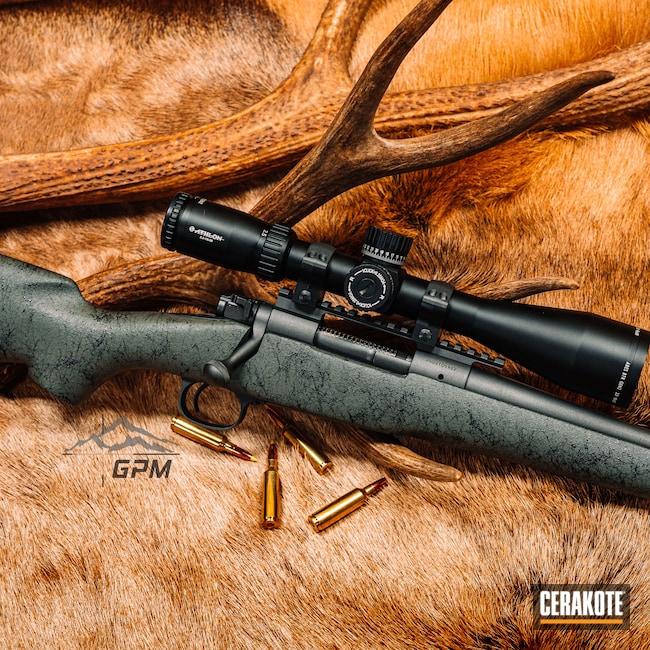Cerakoted: S.H.O.T,Rifle,Bolt Action Rifle,Winchester,Model 70,Custom Webbing,Athlon,GPM,Sniper Rifle,Athlon Optics,Creedmoor,6.5,70,Muzzle,Cobalt H-112,Hunting,Custom Rifle,Webbing,Hunting Rifle,Antlers,Pelt,Muzzle Brake