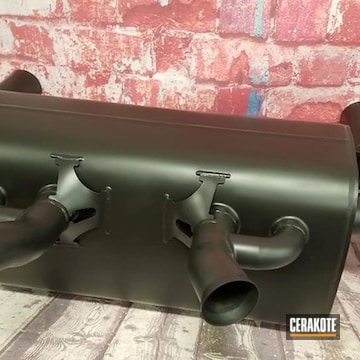 Auto Exhaust Cerakoted Using Cerakote Glacier Black