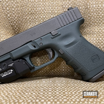 Glock 19 Cerakoted Using Charcoal Green And Tungsten