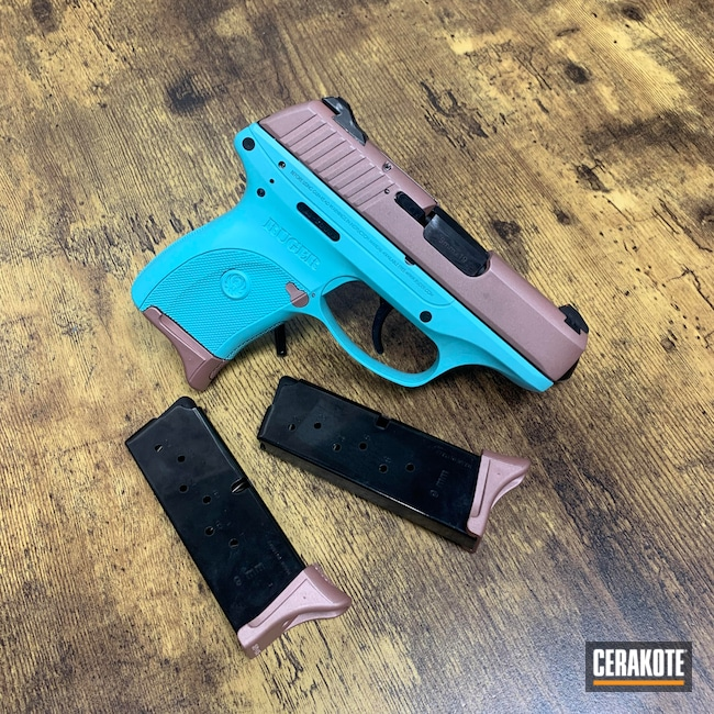 Cerakoted: S.H.O.T,Robin's Egg Blue H-175,Ruger,Rose Gold,Pistol,ROSE GOLD H-327