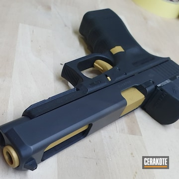 Glock 34 Cerakoted Using Gold