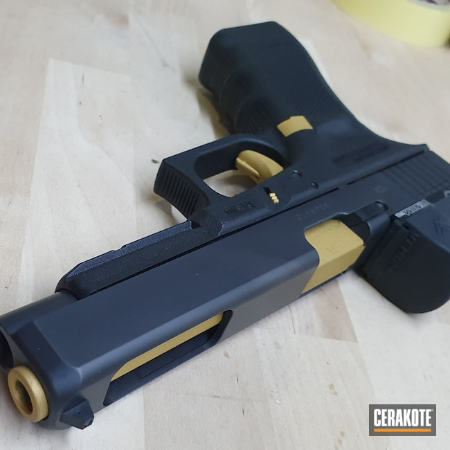 Cerakoted: S.H.O.T,9mm,Glock 34,Gold H-122