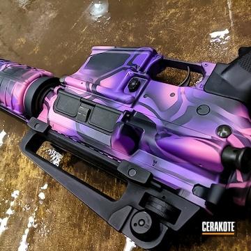 Custom Ar Build Cerakoted Using Pink Sherbet And Purplexed