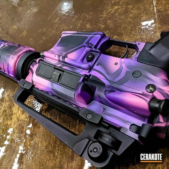 Cerakoted: S.H.O.T,Kryptek,PINK SHERBET H-328,Girls Gun,.223,PURPLEXED H-332,AR-15