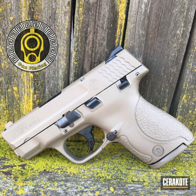 Cerakoted: S.H.O.T,9mm,MAGPUL® FLAT DARK EARTH H-267,Smith & Wesson,M&P Shield