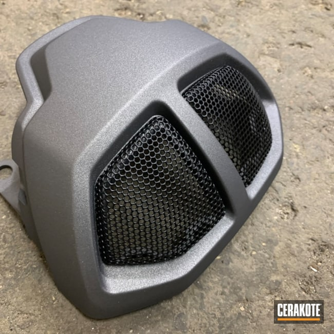 Indian Motorcycle Air Filter Cerakoted Using Tungsten