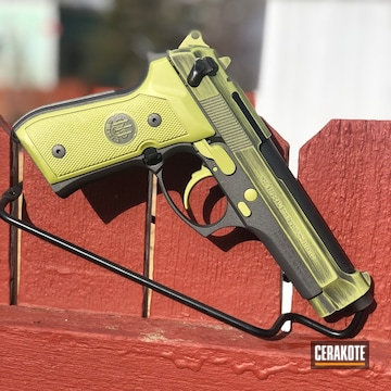 Beretta Pistol Cerakoted Using Mojito And Tungsten