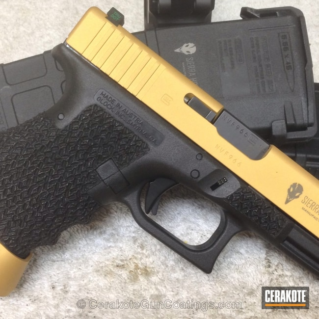 Smaller version of the 1st project picture. Glock, Handgun, Gold H-122Q