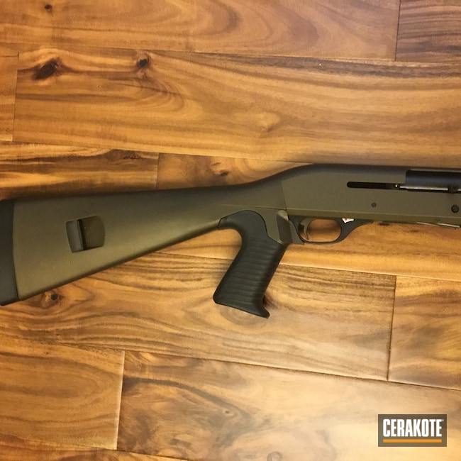 Cerakoted: S.H.O.T,Tactical Shotgun,Graphite Black H-146,Benelli,12 Gauge,Midnight Bronze H-294