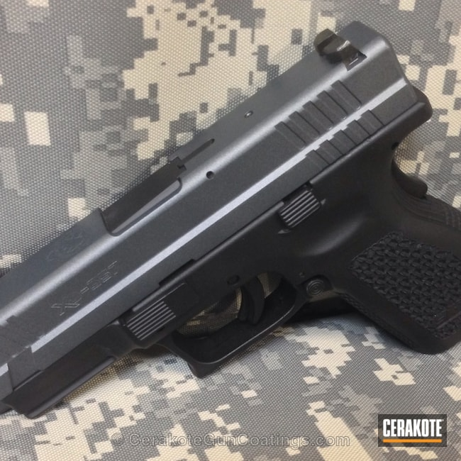 Mobile-friendly version of the 1st project picture. Springfield, Handgun, Gun Metal Grey H-219Q