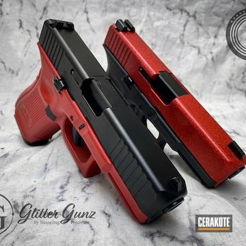 Glocks Cerakoted Using Habanero Red