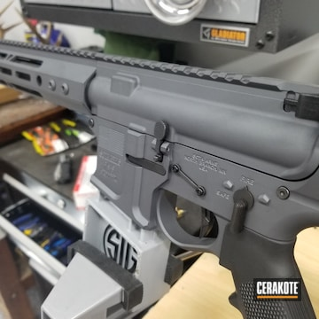 Ar Build Cerakoted Using Sniper Grey And Blackout