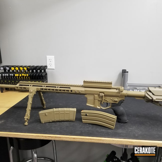 Cerakoted: S.H.O.T,Coyote Tan H-235,Pistol,AR-15