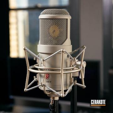 Lauten Audio Microphone Cerakoted Using Shimmer Aluminum