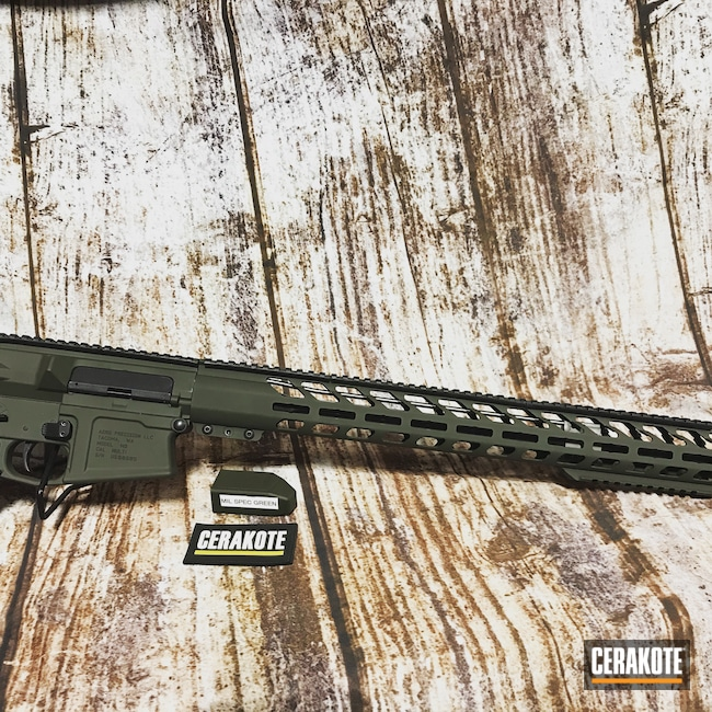 Cerakoted: S.H.O.T,Aero Precision,Rifle,Mil Spec Green H-264,AR 10