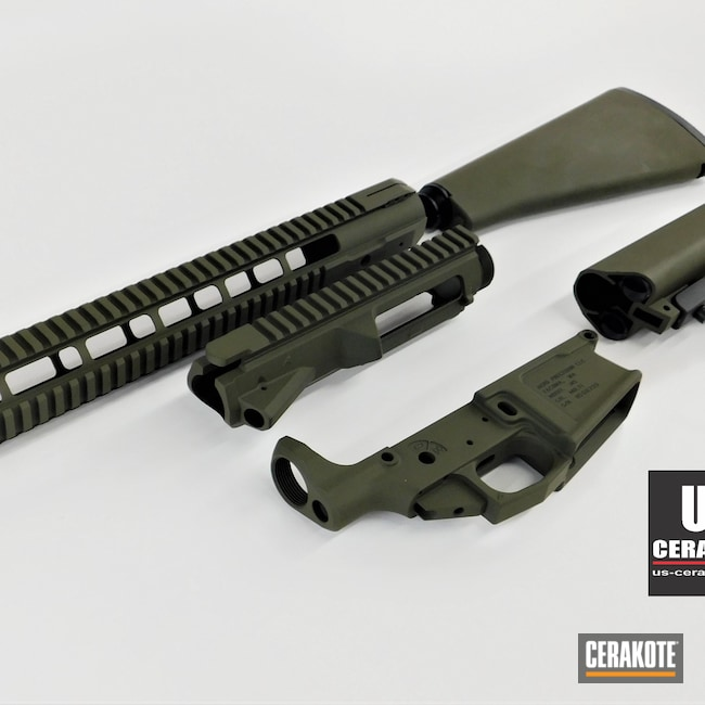 Cerakoted: S.H.O.T,Aero Precision,Receiver,Tactical Shotgun,Lower,MagPul,Handguard,Gun Parts,Upper,MAGPUL® O.D. GREEN H-232,Stock,AR15 Lower