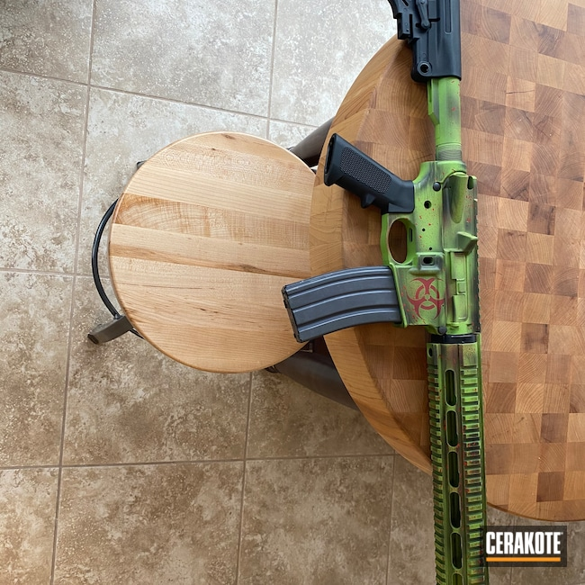 Cerakoted: S.H.O.T,FIREHOUSE RED H-216,Graphite Black H-146,Zombie Green H-168,5.56,AR-15