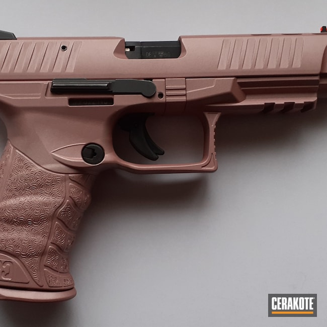 Cerakoted: S.H.O.T,Walther,Walther PPQ,Pistol,ppq,ROSE GOLD H-327,.22