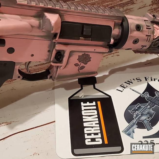 Cerakoted: S.H.O.T,Bazooka Pink H-244,AR Pistol,Rose Vine Hand Guard,Tactical Grey H-227,.300 Blackout