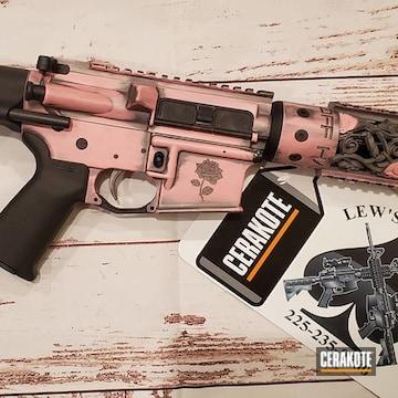 Custom Ar Build Cerakoted Using Bazooka Pink And Tactical Grey