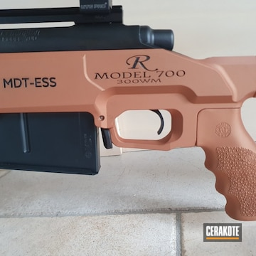 Remington 700 Cerakoted Using Graphite Black And Copper