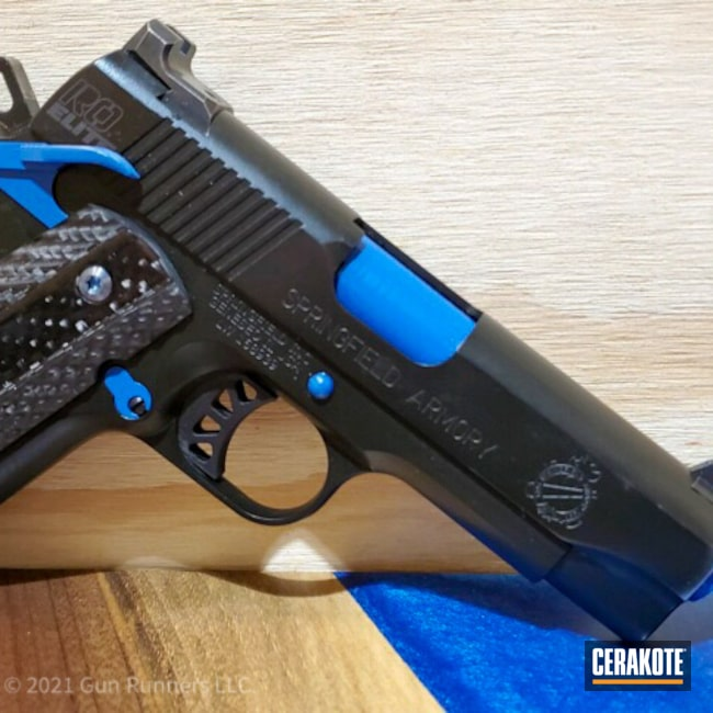 Cerakoted: S.H.O.T,9mm,Springfield 1911,NRA Blue H-171,Springfield Armory,1911,Small Parts