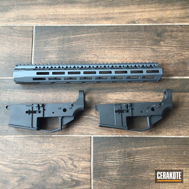 Cerakoted: S.H.O.T,Stone Grey H-262,Graphite Black H-146,AR,.223,AR Build,AR15 Lower