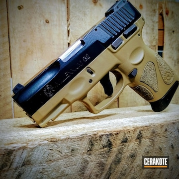 Taurus G2 Cerakoted Using Graphite Black And Coyote Tan