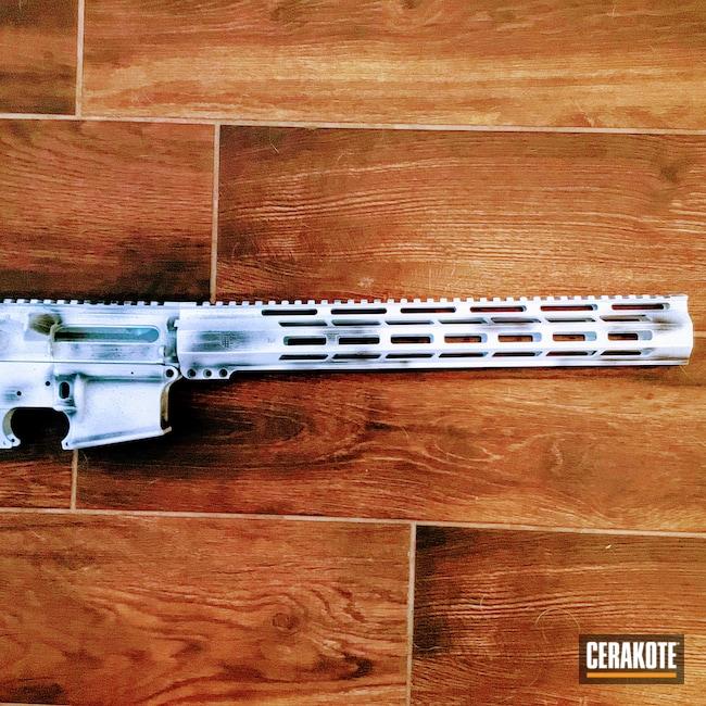 Cerakoted: S.H.O.T,Snow White H-136,#custom,Graphite Black H-146,AR,.223,AR Build,AR-15,AR15 Lower