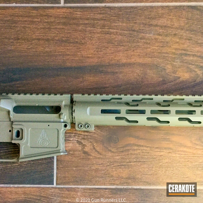 Cerakoted: S.H.O.T,Aero Precision,Clear Coat,AR,Desert Sand H-199,AR Project,.223,Gun Candy Razorback,AR Build,AR15 Lower,AR-15