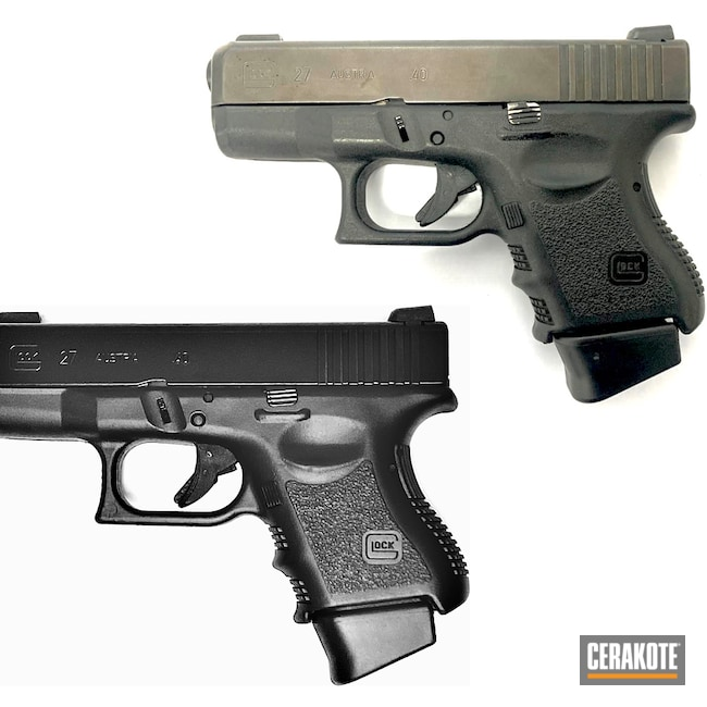 Cerakoted: S.H.O.T,BLACKOUT E-100,Glock,Glock 27,.40,Before and After,Renewal