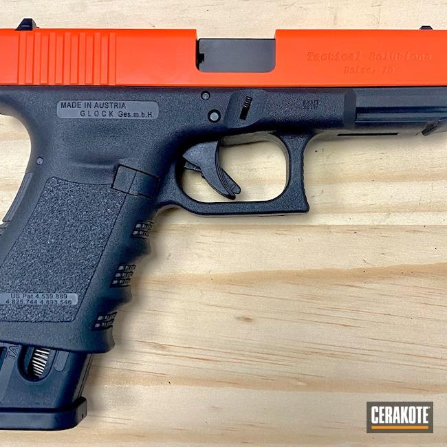 Cerakoted: S.H.O.T,Glock 19,Glock,HI-VIS ORANGE H-346,.22 Conversion,.22