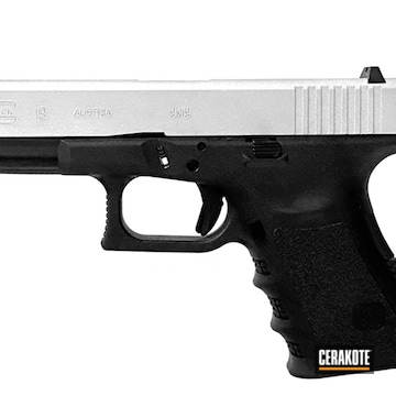 Glock 19 Cerakoted Using Satin Aluminum
