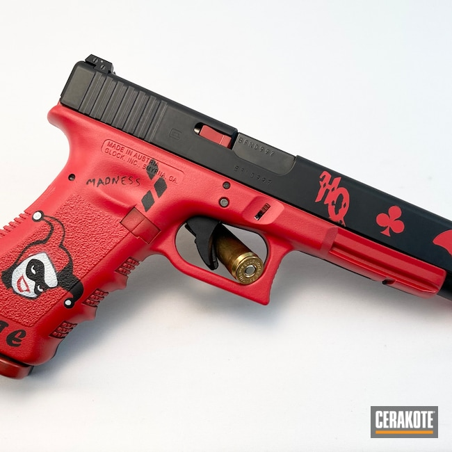 Cerakoted: S.H.O.T,.45,Bright White H-140,Glock 24,Graphite Black H-146,USMC Red H-167,Glock,Harley Quinn,.40