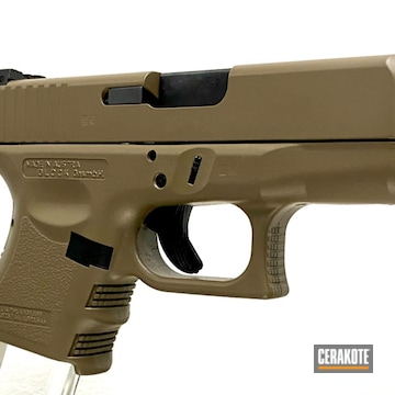 Glock 26 Cerakoted Using Blackout And Fde