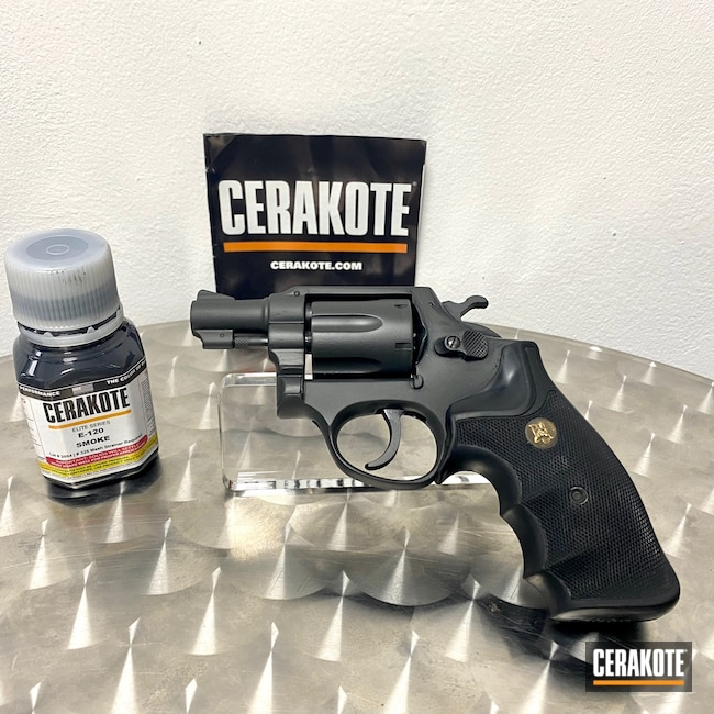 Cerakoted: S.H.O.T,BLACKOUT E-100,Revolver,Taurus,Before and After