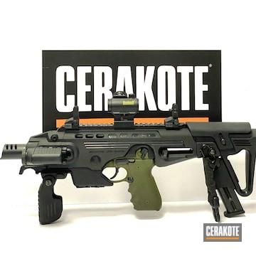 Beretta 92fs And Roni Cerakoted Using Sniper Green And Graphite Black