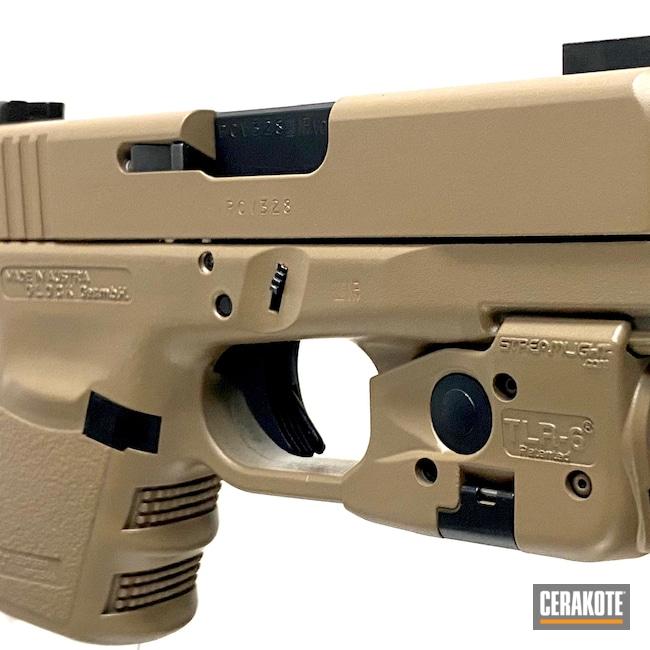 Cerakoted: S.H.O.T,.45,BLACKOUT E-100,M17 COYOTE TAN E-170,Glock 30,Elite Series,Glock,Guns,Handguns