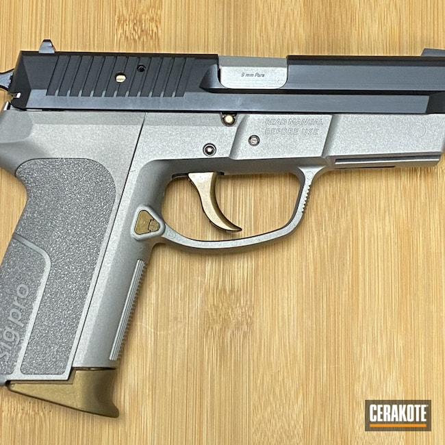 Cerakoted: S.H.O.T,9mm,Graphite Black H-146,SP 2009,Burnt Bronze H-148,Sig Sauer,Sig,Titanium H-170,Guns,Handguns