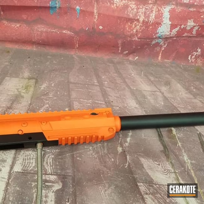 Cerakoted: S.H.O.T,Pepperball Launcher,Pepper Ball Launcher,Hunter Orange H-128,Non-Lethal Protection