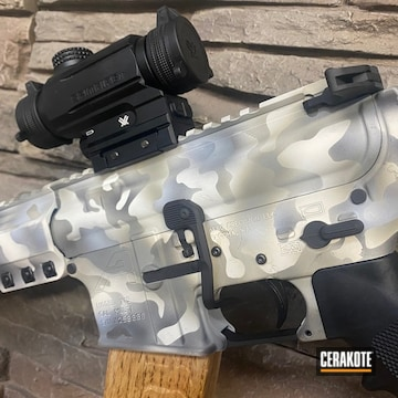 Custom Camo Aero Precision Ar Build Cerakoted Using Snow White, Smith & Wesson® Grey And Graphite Black