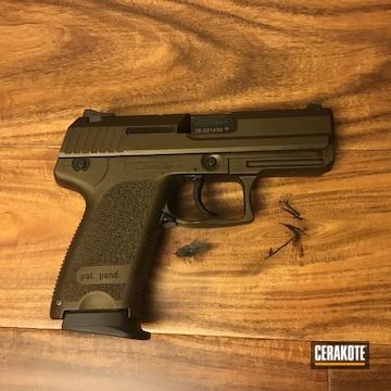 Heckler Usp Compact Pistol Cerakoted Using Midnight Bronze