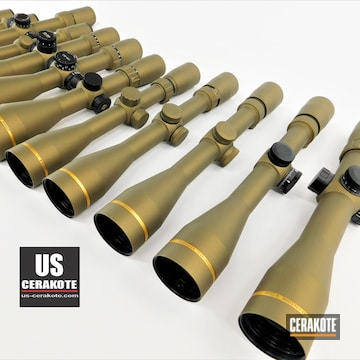 Scopes Cerakoted Using Satin Aluminum, Titanium And Tungsten