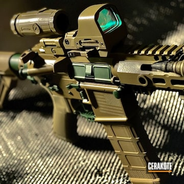 Custom Ar Build Cerakoted Using Jesse James Eastern Front Green And Magpul® Flat Dark Earth