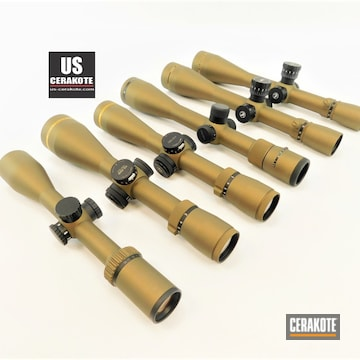 Scopes Cerakoted Using Burnt Bronze