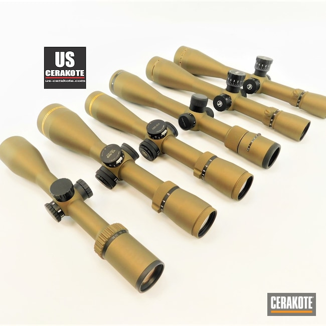 Cerakoted: S.H.O.T,Gun Parts,vx-3i,Vortex,Fullfield,Scope,Burris Scope,Scopes,Vortex Scope,Leupold Scope,Burnt Bronze H-148,Burris,VX-5HD,Leupold,LRP