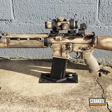 Custom Ar Build Cerakoted Using Fs Brown Sand, Chocolate Brown And Graphite Black