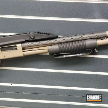Custom Shotgun Cerakoted Using Armor Black And Magpul® Flat Dark Earth