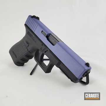 Glock 23 Cerakoted Using Crushed Orchid