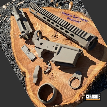 Ar Builders Set Cerakoted Using Magpul® Flat Dark Earth